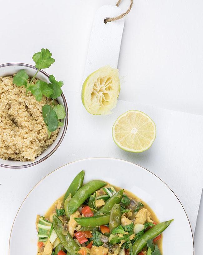 Asian wok recipe with quinoa