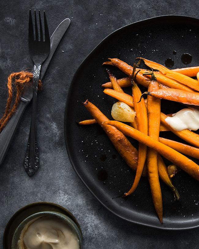 Balsamic vinegar carrots