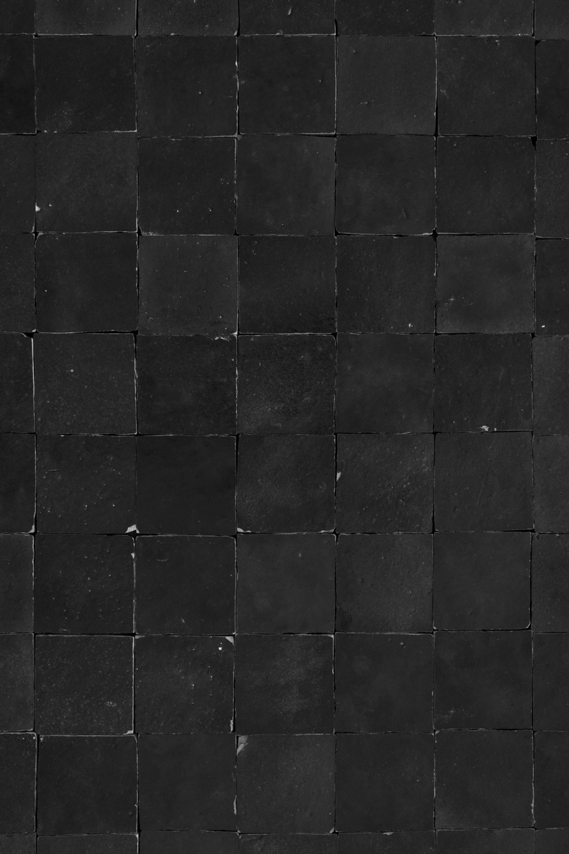 Black tiles photography backdrop for moody flat lay or tiled wall images