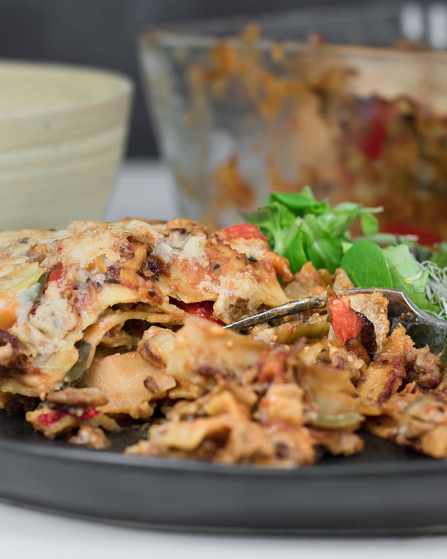 Healthy lasagna without meat