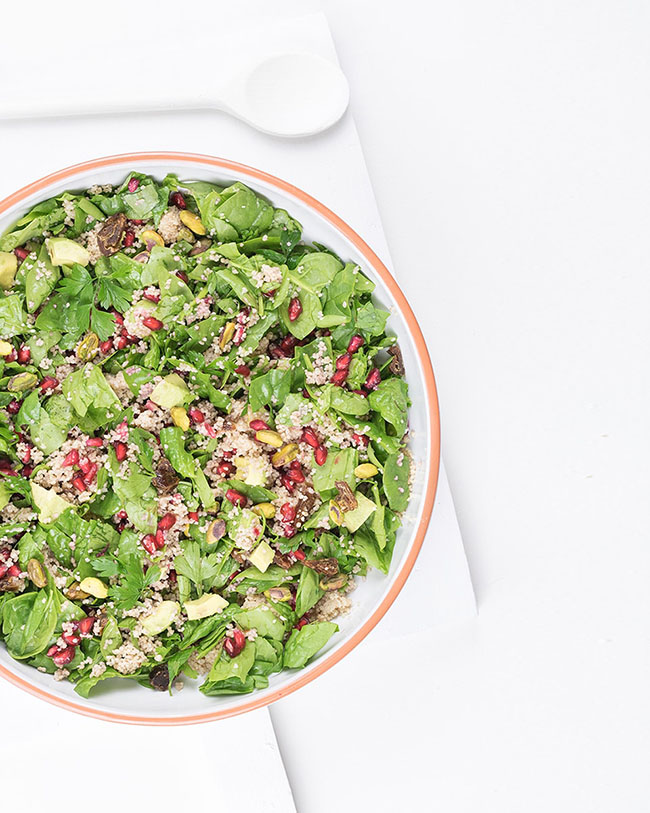 Moroccan couscous salad with pomegranate