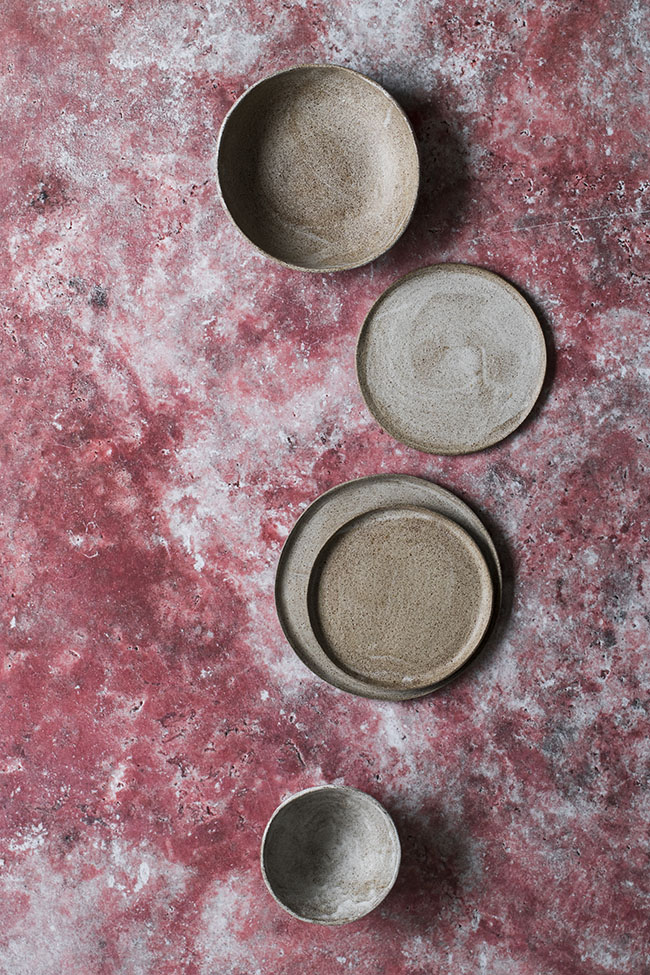 Salty red stone photo backdrop, for food and product photographers