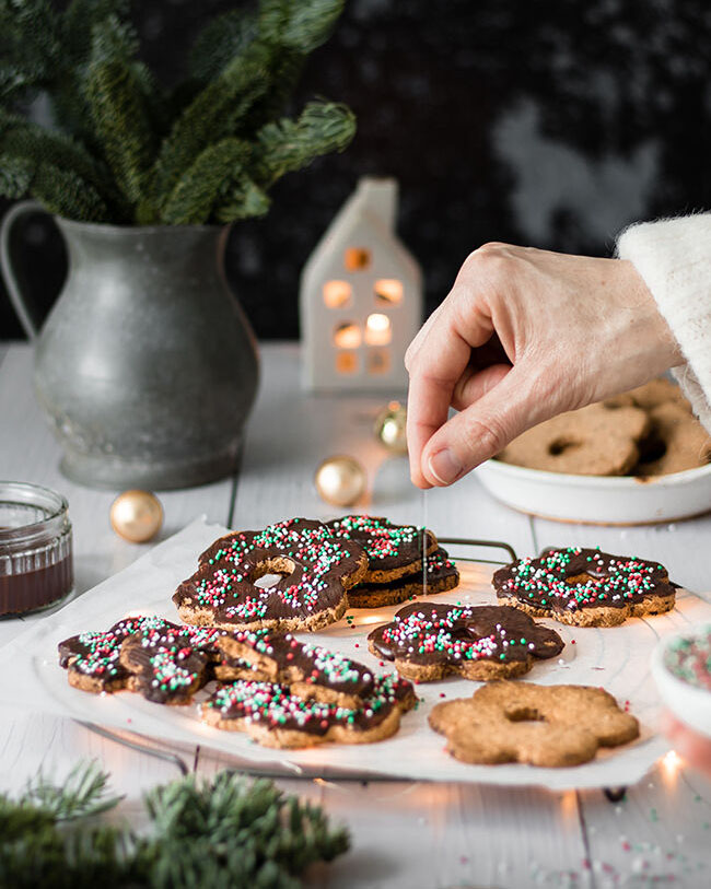 Vegan cut out christmas cookies