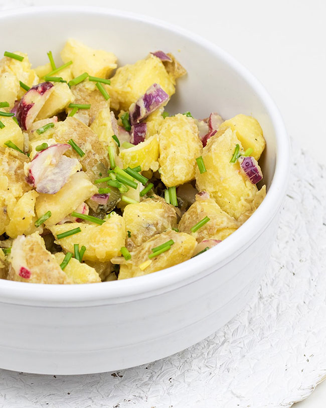 Vegetarian potato salad
