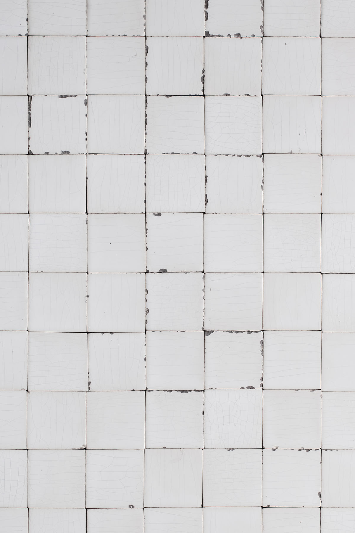 Damaged white tiles vinyl backdrop loaded with character for photography